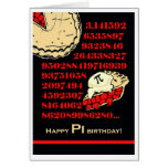 Funny Pi Day Birthday, Grab a Slice of Pi Greeting Card