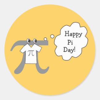 Funny Pi Guy - Happy Pi Day Round Sticker
