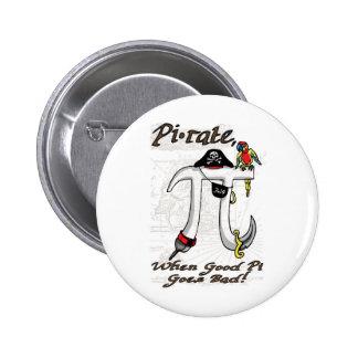 Funny Pi rate Pi Day Humor 6 Cm Round Badge