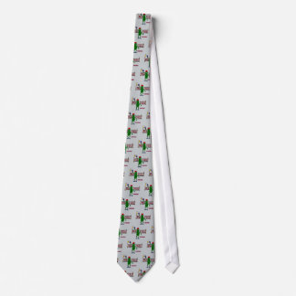 Funny Pickle Playing Pickleball with Net Art Tie
