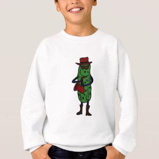 Funny Pickle Playing Saxophone Sweatshirt