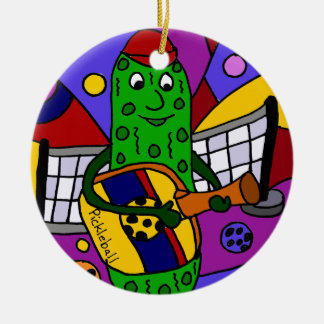 Funny Pickleball Abstract Art Original Christmas Ornament