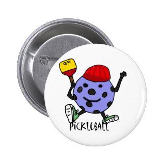 Funny Pickleball Ball Character Cartoon 6 Cm Round Badge