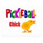 Funny Pickleball Chick Art Postcard
