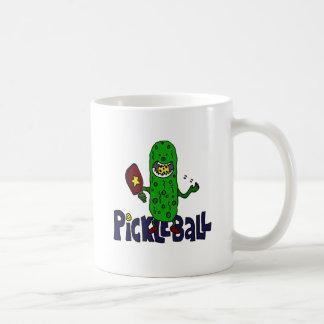 Funny Pickleball Monster Cartoon Basic White Mug