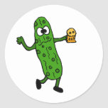 Funny Pickled Pickle Round Stickers