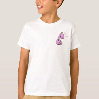funny picture of a pink dinosaur TeaRex T-Shirt