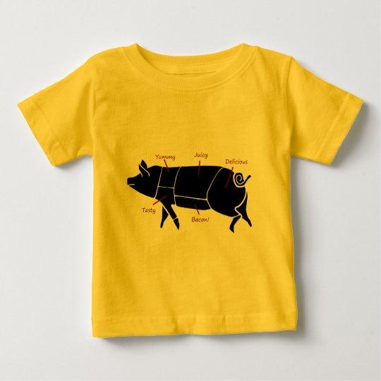 Funny Pig Butcher Chart Diagram Baby T-Shirt