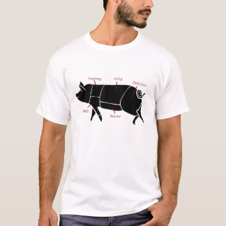 Funny Pig Butcher Chart Diagram T-Shirt