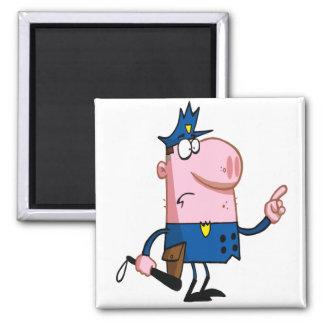 funny pig cartoon cop refrigerator magnet