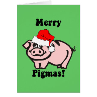 Funny pig Christmas Greeting Card