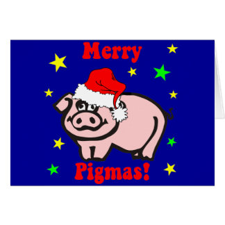 Funny pig Christmas Card