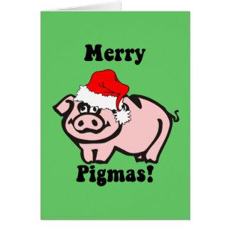 Funny pig Christmas Cards
