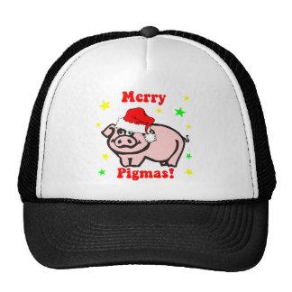 Funny pig Christmas Mesh Hats