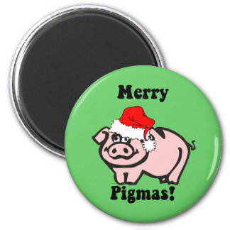 Funny pig Christmas Magnet