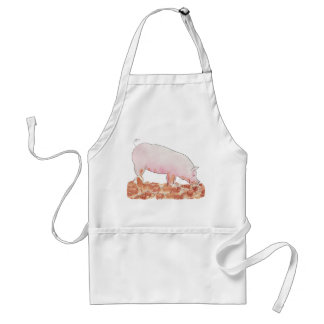 Funny pig in mud novelty art apron