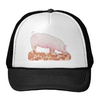Funny pig in mud novelty art design hat