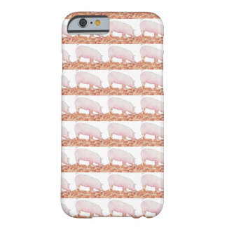 Funny pig in mud novelty art phone case barely there iPhone 6 case
