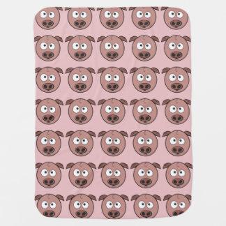Funny Pig Pattern Swaddle Blanket