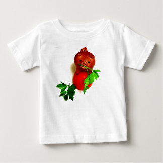Funny Pig with Parsley Baby and Kids T-shirt