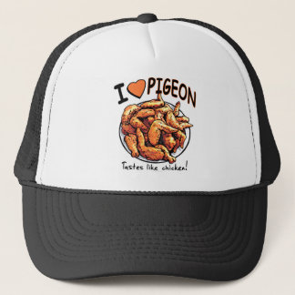 Funny Pigeon Wing Plate by Mudge Studios Trucker Hat