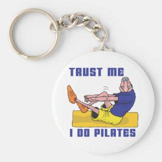 Funny Pilates Key Ring