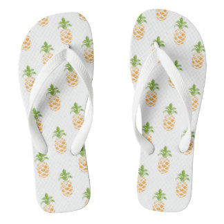 Funny Pineapple Flip Flops