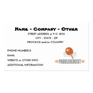 Funny Ping Pong Pack Of Standard Business Cards
