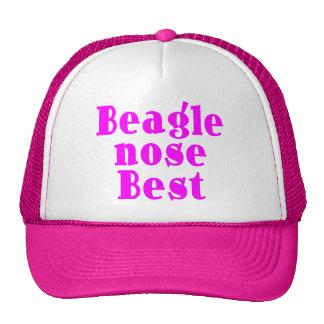 Funny Pink Beagles : Beagle Nose Best Cap