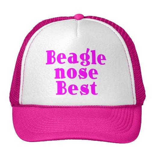 Funny Pink Beagles : Beagle Nose Best Hats