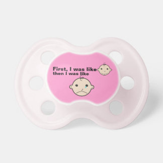 Funny Pink Crying Smiling Moody Meme Baby Pacifier