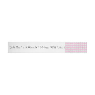Funny Pink Easter Bunnies Wraparound Address Label