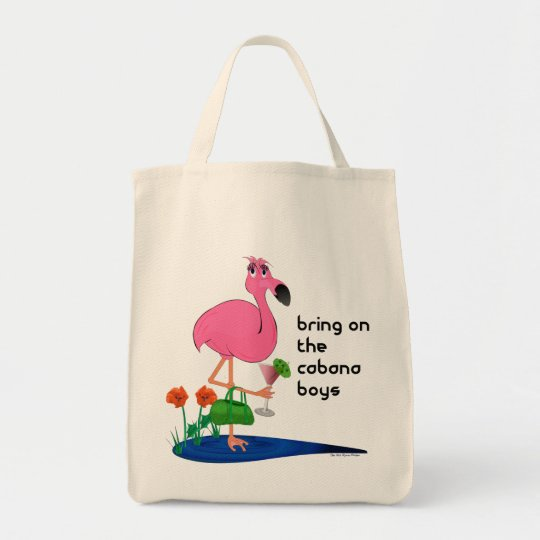 Funny Pink Flamingo Bag