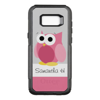 Funny Pink Owl Personalised Samsung Galaxy S8