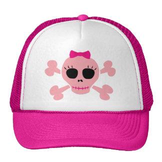 Funny Pink Skull Trucker Hat