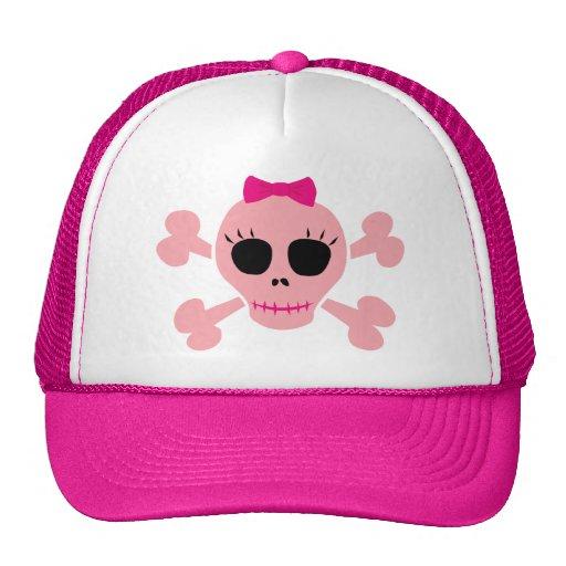 Funny Pink Skull Trucker Hats