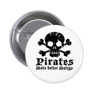 Funny Pirate 6 Cm Round Badge