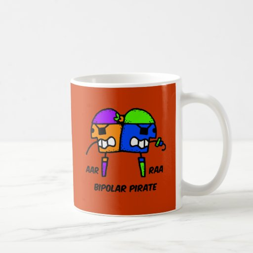 Funny pirate basic white mug