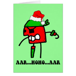 Funny pirate Christmas Greeting Card