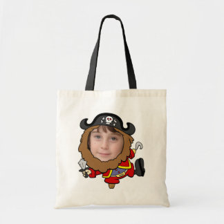 Funny Pirate Cut Out Face Template Canvas Bags