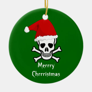 Funny Pirate Merry Christmas Greeting Arrrgh Matey Christmas Ornament