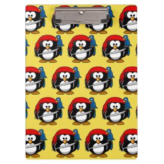 Funny Pirate Pinguin Clipboard