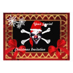 Funny pirate skull,  Christmas Personalised Invites