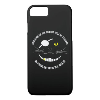 Funny Pirate Smiling Cat With An Eye Patch iPhone 8/7 Case