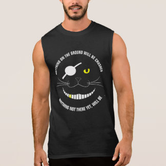 Funny Pirate Smiling Cat With An Eye Patch Sleeveless Shirt