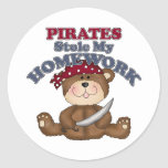 Funny Pirates Stole My Homework Stickers