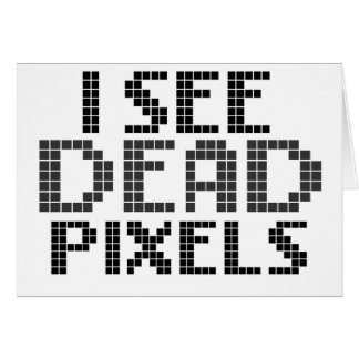 Funny Pixel / Geek Quote Greeting Card