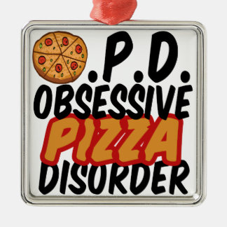Funny Pizza Christmas Ornament