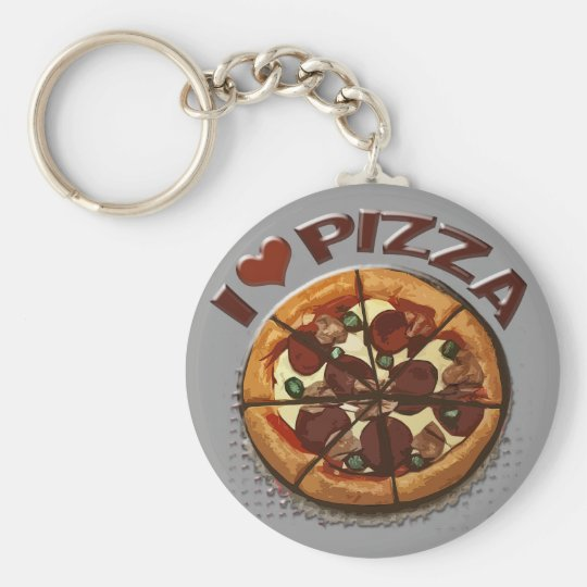 Funny Pizza Lover's Keychain