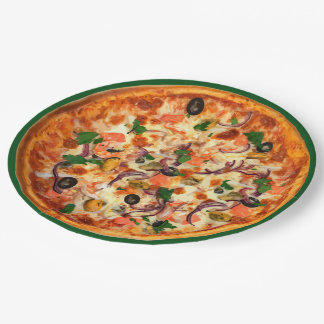 Funny Pizza Party Plates